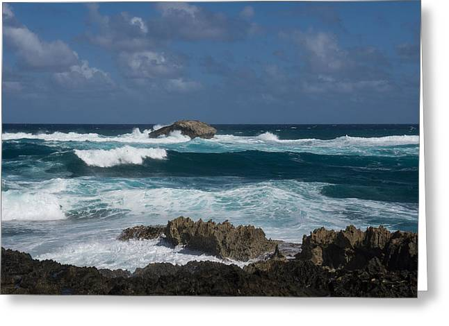 North Sea Greeting Cards - Boiling the Ocean at Laie Point - North Shore - Oahu - Hawaii Greeting Card by Georgia Mizuleva