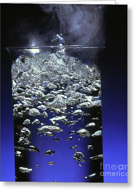 Boiling Greeting Cards - Boiling Water Greeting Card by Martyn F. Chillmaid