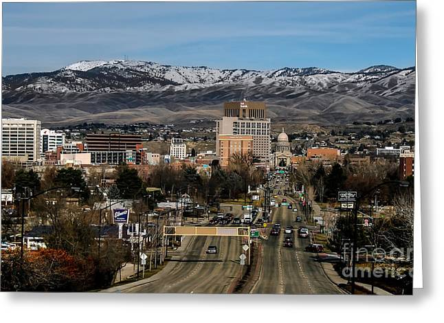 Haybale Photographs Greeting Cards - Boise Idaho Greeting Card by Robert Bales