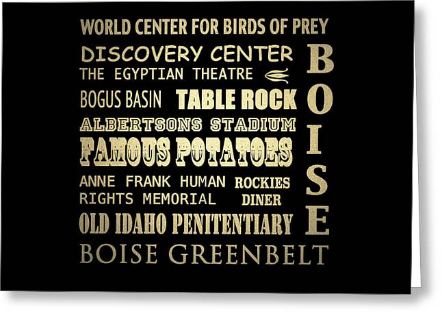 Egyptian Theatre Greeting Cards - Boise Greeting Card by Patricia Lintner