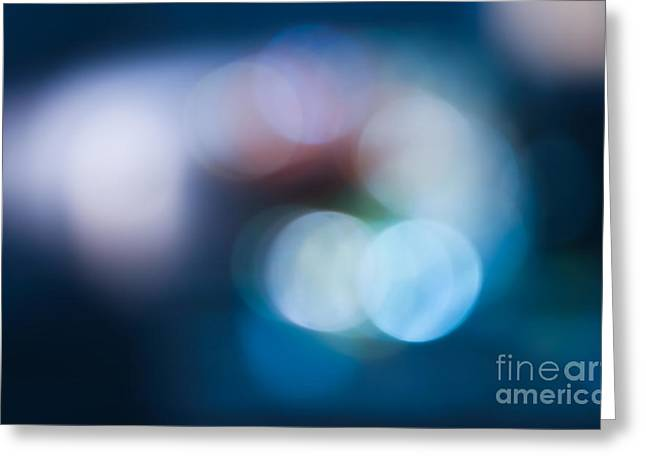 Aperture Greeting Cards - Bokeh Lights Greeting Card by Sharon Mau