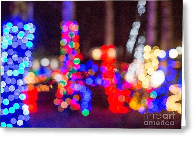 Bokeh Greeting Cards - Bokeh Magic 1 Greeting Card by Rebecca Cozart