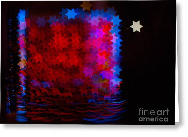 Bokeh Greeting Cards - Bokeh Magic 5 Greeting Card by Rebecca Cozart