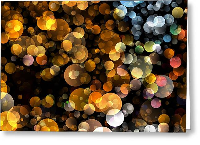 Bokeh Mixed Media Greeting Cards - Bokeh Modern Decorative Design I Greeting Card by Georgiana Romanovna