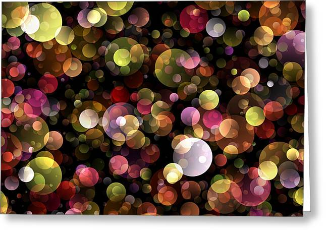Bokeh Modern Decorative Design Iv Greeting Card by Georgiana Romanovna
