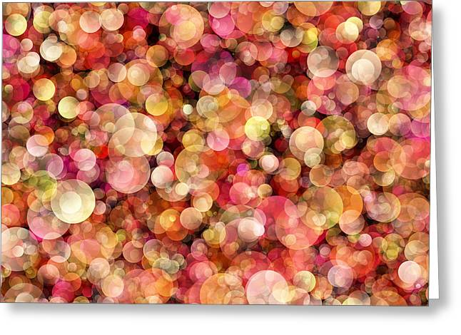 Bokeh Modern Decorative Design Ix Greeting Card by Georgiana Romanovna
