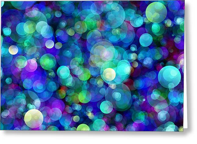 Wall Art For Your Home Greeting Cards - Bokeh Modern Decorative Design VI Greeting Card by Georgiana Romanovna