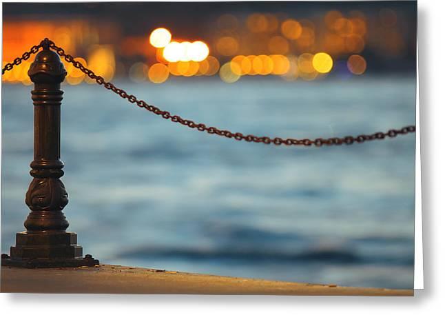 Bosphorus Greeting Cards - Bokeh Greeting Card by Ugur Ugurlu