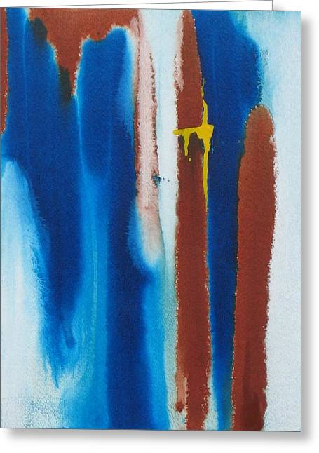 Drippy Paintings Greeting Cards - Bold and Drippy One Greeting Card by Louise Adams
