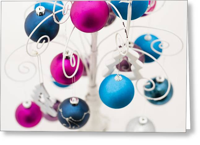 Bold Baubles Greeting Card by Anne Gilbert
