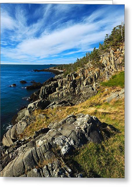 Blue Green Water Greeting Cards - Bold Coast 3 Greeting Card by Bill Caldwell -        ABeautifulSky Photography