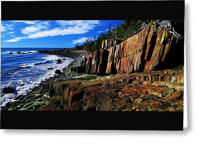 Quoddy Greeting Cards - Bold Coast 32 Greeting Card by Bill Caldwell -        ABeautifulSky Photography