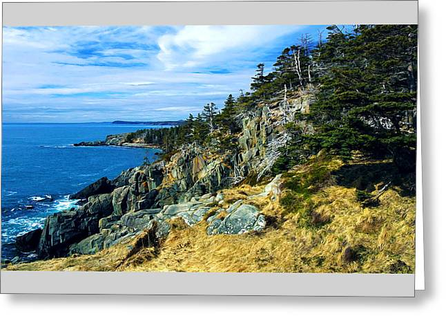 Quoddy Greeting Cards - Bold Coast in Fall Greeting Card by Bill Caldwell -        ABeautifulSky Photography