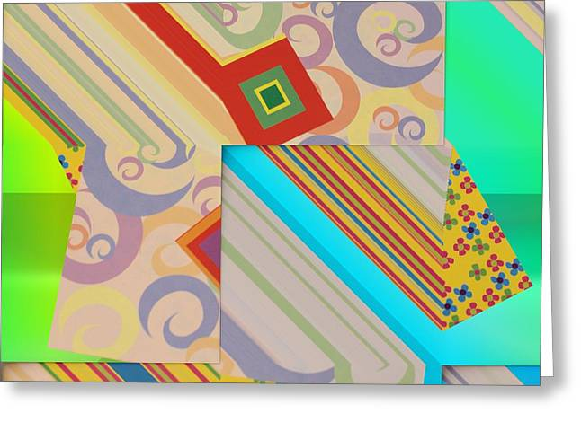Customizable Greeting Cards - Bold Geometric Abstract  Greeting Card by Liane Wright
