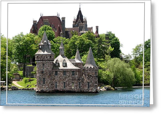 Santuci Greeting Cards - Boldt Castle and Powerhouse Greeting Card by Rose Santuci-Sofranko