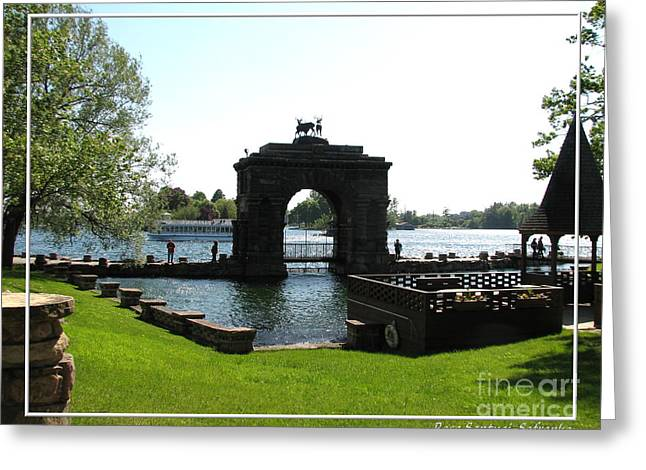 Boldt Castle Entry Arch Greeting Card by Rose Santuci-Sofranko
