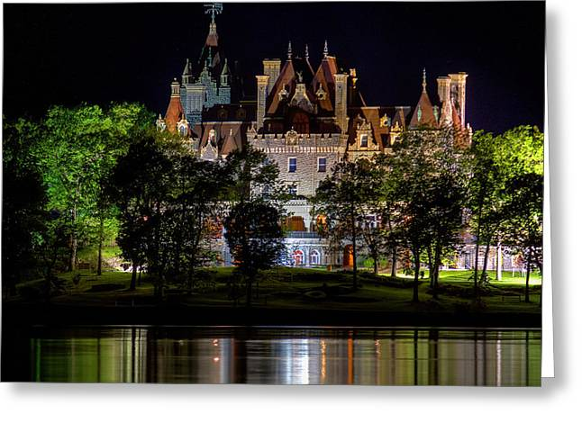 Bay St. Lawrence Greeting Cards - Boldt Castle On Heart Island Greeting Card by Don Nieman