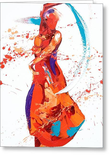 Spanish Dancer Greeting Cards - Bolero Greeting Card by Penny Warden