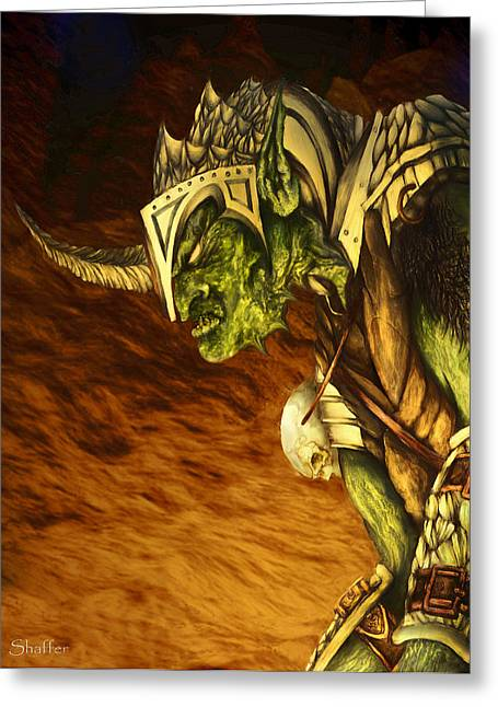 Goblins Greeting Cards - Bolg The Goblin King Greeting Card by Curtiss Shaffer