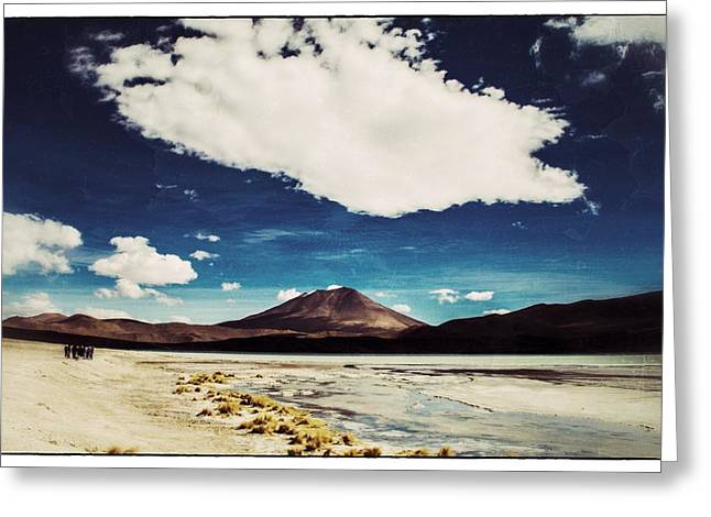 Bolivia Blog Greeting Cards - Bolivia Tour Desert Vintage Greeting Card by For Ninety One Days