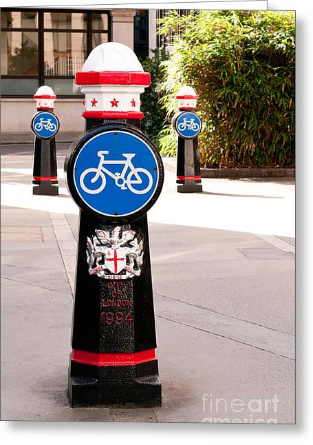 Bollard Greeting Cards - Bollards Greeting Card by Rick Piper Photography