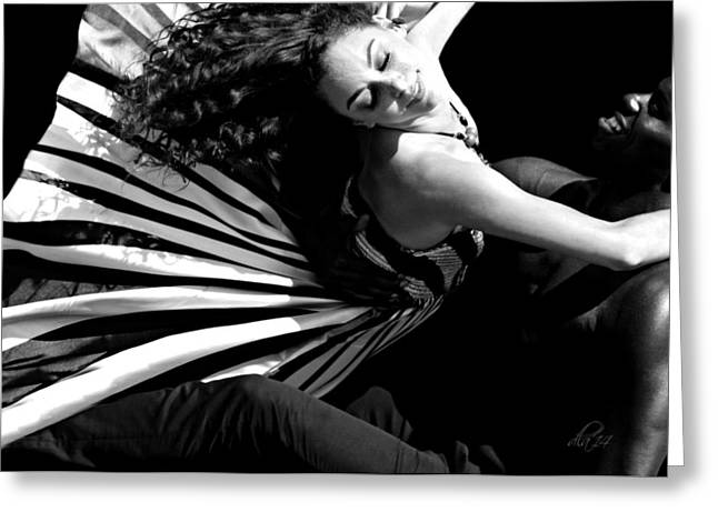 Candid Portraits Greeting Cards - Bollywood Dancers Greeting Card by Diana Angstadt