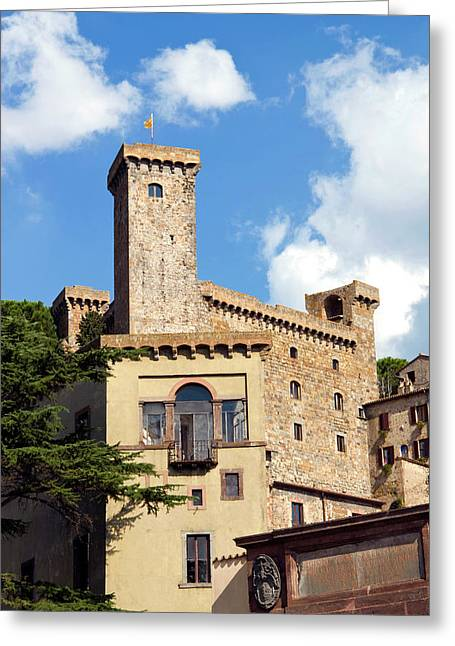 Bolsena Castle (rocca Monaldeschi Greeting Card by Nico Tondini