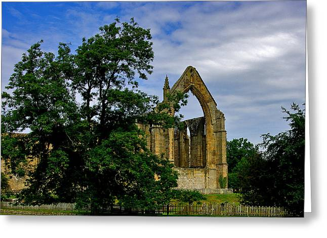 Historic Architecture Greeting Cards - Bolton Abbey Greeting Card by Trevor Kersley