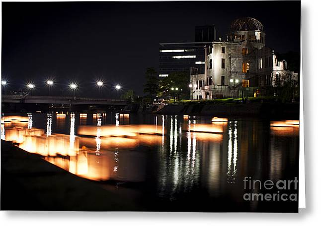 Bomb Dome And Lanterns Greeting Card by Samantha Frey