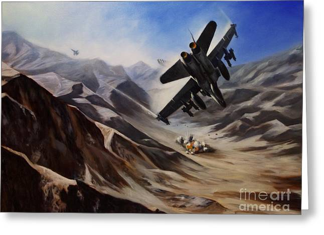 F-18 Greeting Cards - Bomb Run Greeting Card by Stephen Roberson