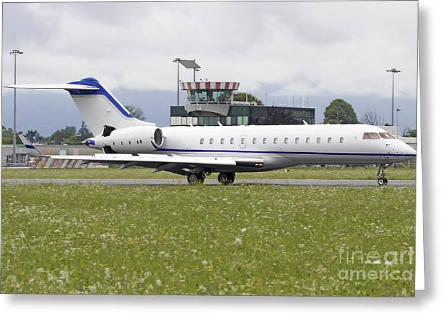 First-class Greeting Cards - Bombardier Bd-700 1a10 Global Express Greeting Card by Luca Nicolotti