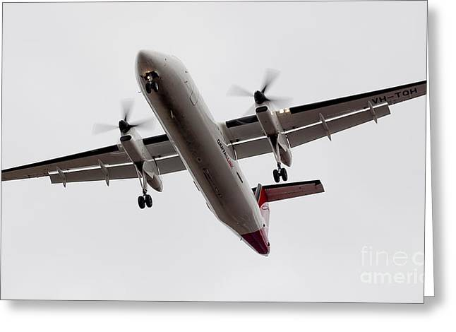 Ralser Greeting Cards - Bombardier DHC 8 Greeting Card by Steven Ralser