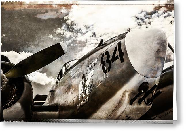 Military Airplanes Greeting Cards - Bomber Plane 84 Greeting Card by Steven Bateson