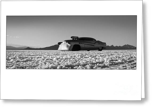 Salt Flat Images Greeting Cards - Bombshell Betty - Metal and Speed Greeting Card by Holly Martin