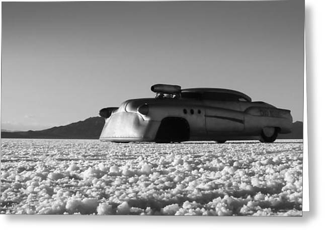 Bonneville Speed Week Greeting Cards - Bombshell Buick - Metal and Speed Greeting Card by Holly Martin