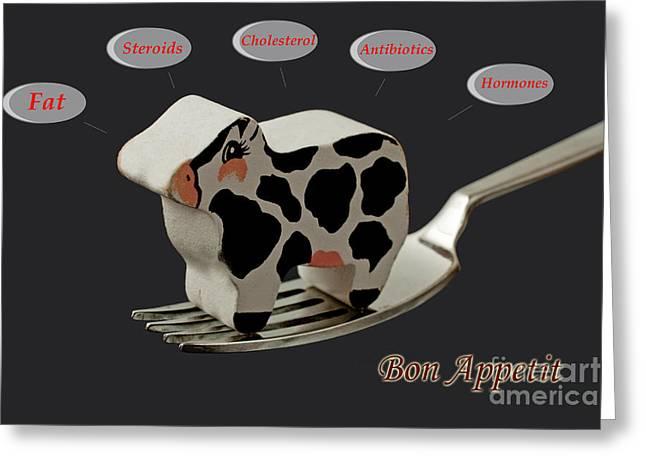 Vegeterian Greeting Cards - Bon Appetit Greeting Card by Gunter Nezhoda