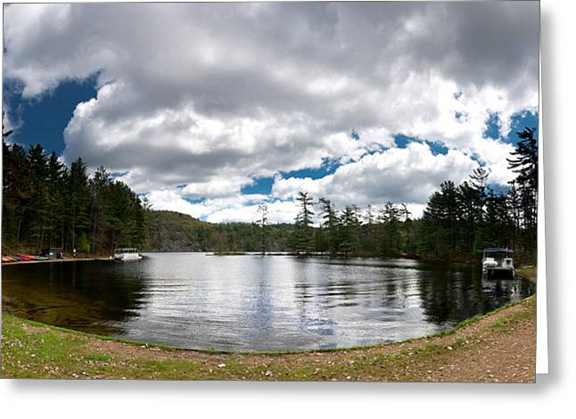 Canoe Greeting Cards - Bon Echo Lagoon Panorama Greeting Card by Cale Best