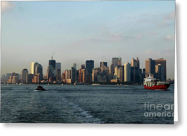 Hudson River Tugboat Greeting Cards - Bon Voyage Greeting Card by Christiane Schulze Art And Photography