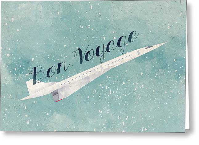 Plane Greeting Cards - Bon Voyage Greeting Card by Randoms Print