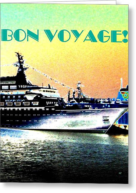 Will Borden Greeting Cards - Bon Voyage Greeting Card by Will Borden