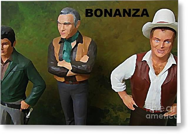 Model Kits Greeting Cards - Bonanza Greeting Card by John Malone