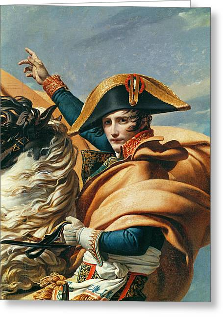 St Bernard Greeting Cards - Bonaparte Crossing The Alps Oil On Canvas Detail Of 18491 Greeting Card by Jacques Louis David