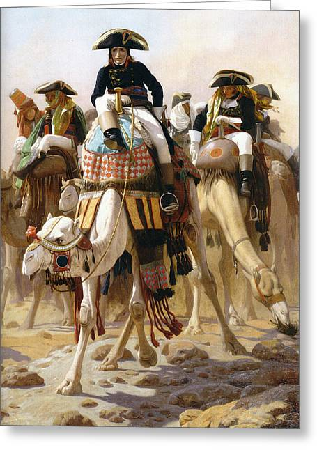 Gerome Greeting Cards - Bonaparte in Egypt Greeting Card by Jean-Leon Gerome