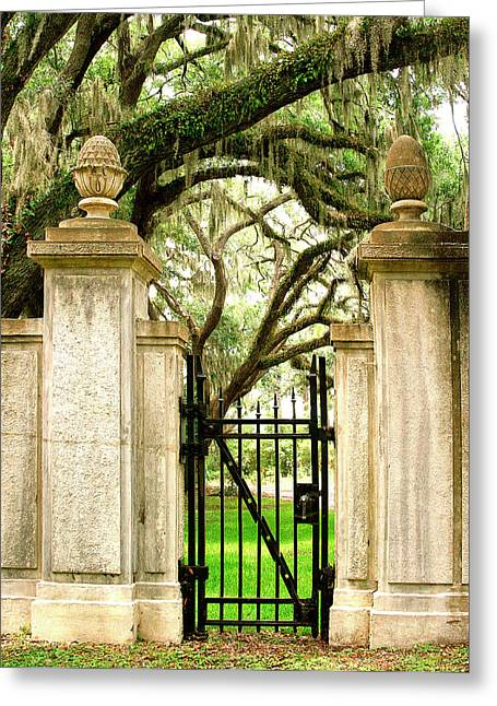 Bonaventure Cemetery Gate Savannah Ga Greeting Card by William Dey