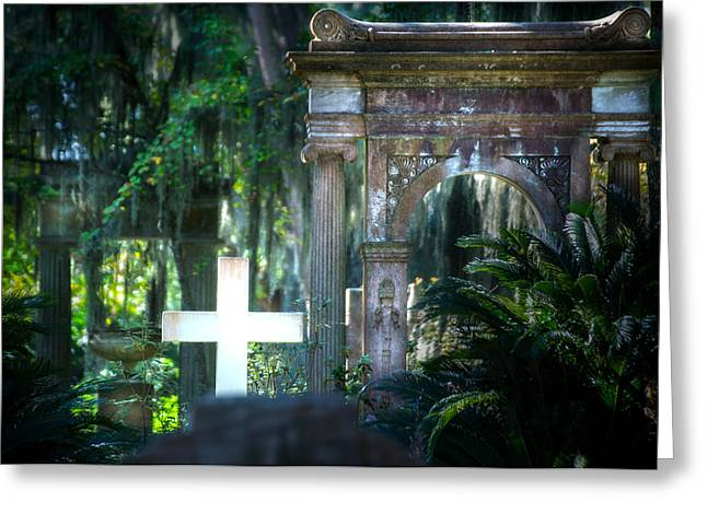 Beauty Mark Greeting Cards - Bonaventure Memorials Greeting Card by Mark Andrew Thomas