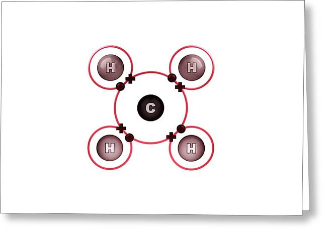 Bond Formation In Methane Molecule Greeting Card by Animate4.com/science Photo Libary