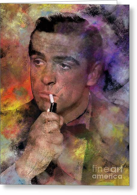 Dr J Greeting Cards - Bond - James Bond Greeting Card by John Robert Beck