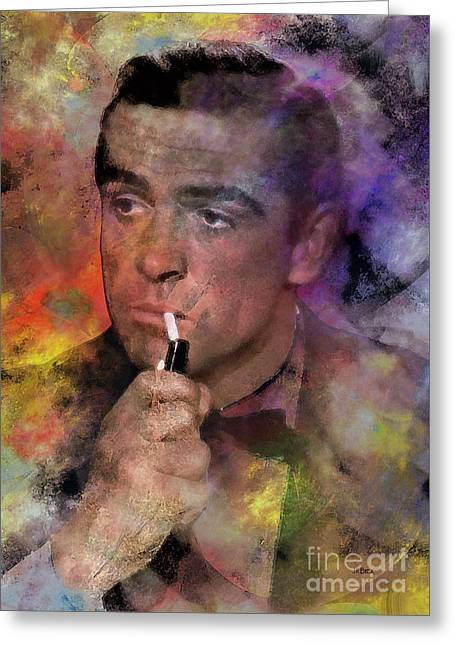 Bond - James Bond Greeting Card by John Robert Beck