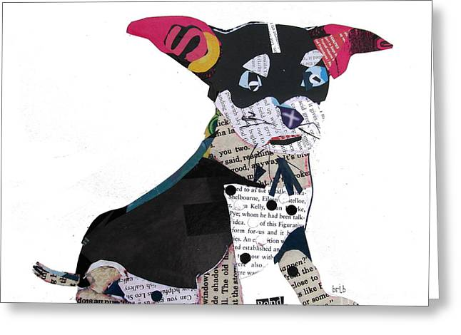 Puppies Mixed Media Greeting Cards - Bond.chihuahua  Greeting Card by Bri Buckley