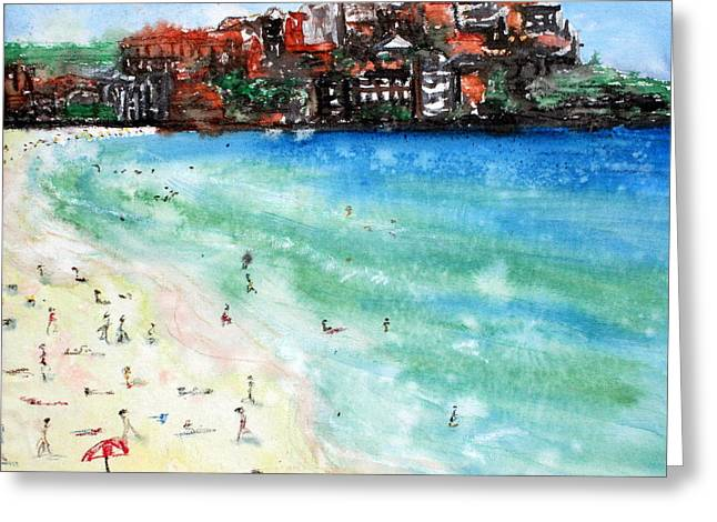 Lyndsey Hatchwell Greeting Cards - Bondi Beach Greeting Card by Lyndsey Hatchwell